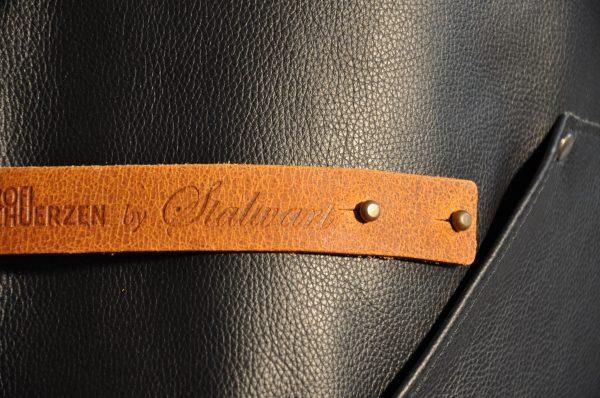 Lederschuerze Deluxe Detail