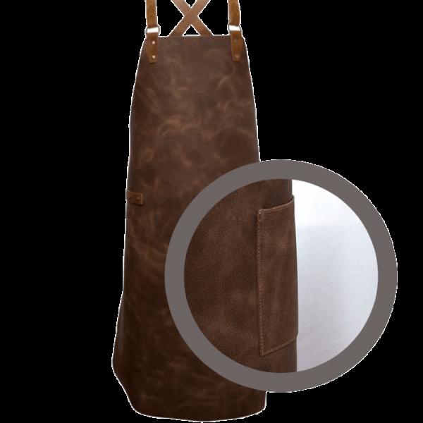 Leder-Latzschuerze-mit-Kreuztraeger-Detail-Tasche