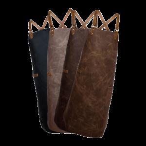 Lederschürze – Latzschürze mit Kreuzträger – large